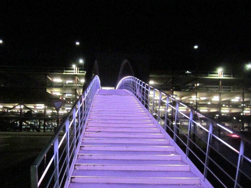 Illumination Fußgänger-Brücke