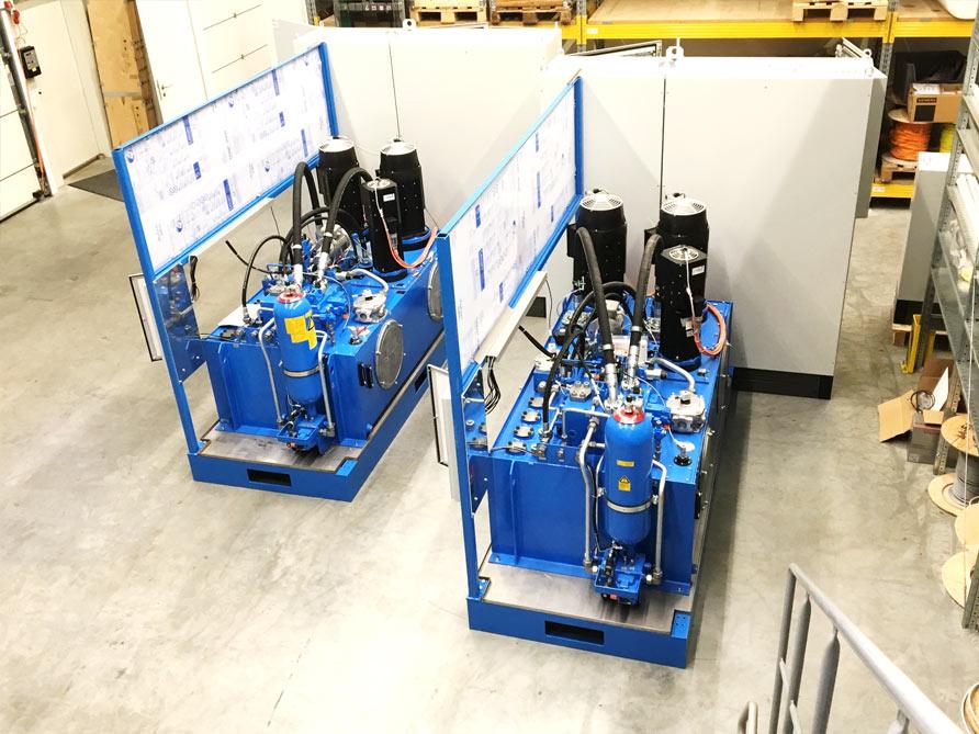 Elektro-Installationen Hydraulikaggregate